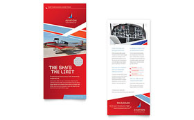 Aviation Flight Instructor - Rack Card Template