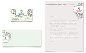 Babysitting & Daycare - Business Card & Letterhead Template