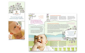 Babysitting & Daycare - Microsoft Word Tri Fold Brochure