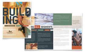 Home Builders & Construction - Microsoft Word Brochure Template