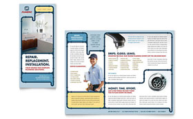Plumbing Services - Adobe InDesign Brochure Template