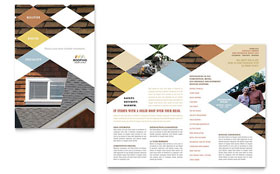 Roofing Contractor - QuarkXPress Brochure