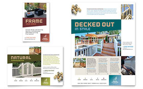 Decks & Fencing - Flyer & Ad