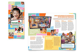 Preschool Kids & Day Care - Microsoft Word Brochure Template