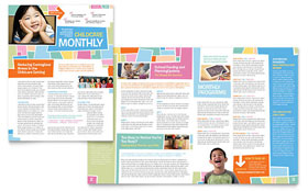Preschool Kids & Day Care - Newsletter Template
