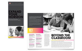 Adult Education & Business School - QuarkXPress Tri Fold Brochure Template