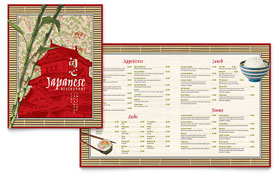 Japanese Restaurant - Adobe InDesign Menu Template