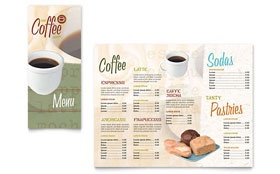 Coffee Shop - Take-out Brochure Template