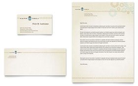 Cafe Deli - Business Card & Letterhead Template