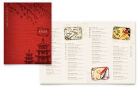 Asian Restaurant - Microsoft Word Menu