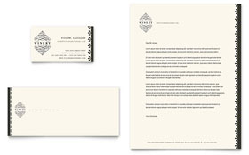 Vineyard & Winery - Business Card & Letterhead Template