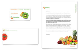 Nutritionist & Dietitian - Business Card & Letterhead Template