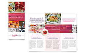 Corporate Event Planner & Caterer - Microsoft Word Tri Fold Brochure Template