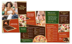 Pizza Pizzeria Restaurant - Microsoft Word Menu