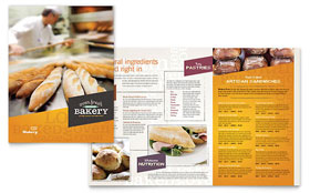Artisan Bakery - Menu Template