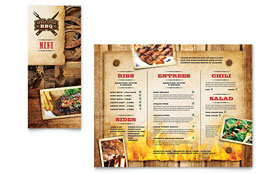 Steakhouse BBQ Restaurant - Take-out Brochure
