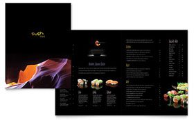 japan travel brochure template - sushi restaurant menu template