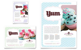 Bakery & Cupcake Shop - Flyer & Ad