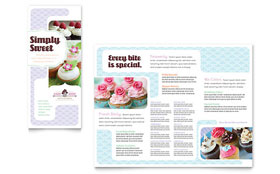 Bakery & Cupcake Shop - QuarkXPress Tri Fold Brochure Template