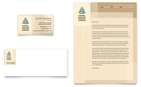 Credit Union & Bank - Business Card & Letterhead