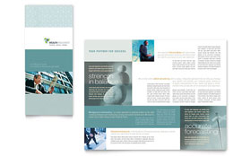 Wealth Management Services - Microsoft Word Tri Fold Brochure
