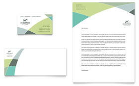 Financial Advisor - Business Card & Letterhead Template