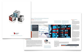 Investment Bank - Graphic Design Brochure Template