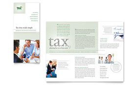 Accounting & Tax Services - Print Design Tri Fold Brochure Template