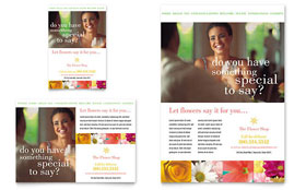 Florist Shop - Print Ad Template