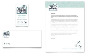 Pet Grooming Service - Business Card & Letterhead