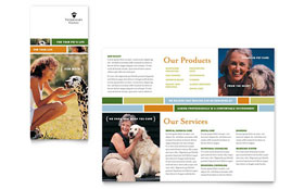 Veterinarian Clinic - Apple iWork Pages Brochure