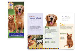 Dog Kennel & Pet Day Care - Adobe InDesign Brochure Template