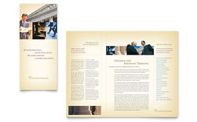 Attorney & Legal Services - Tri Fold Brochure Template