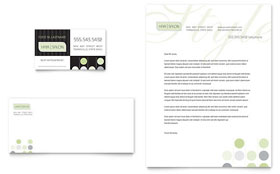 Beauty & Hair Salon - Business Card & Letterhead Template
