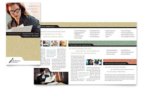 Bookkeeping & Accounting Services - Graphic Design Brochure Template
