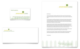 Apartment Living - Business Card & Letterhead Template