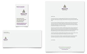 Realty Services - Business Card & Letterhead Template