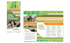 Lawn Care & Mowing - Tri Fold Brochure Template