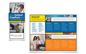 Heating & Air Conditioning - QuarkXPress Brochure Template