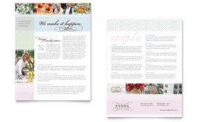 Wedding & Event Planning - Datasheet