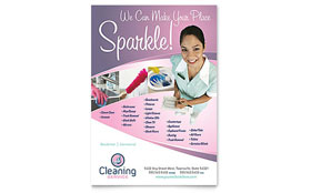 House Cleaning & Maid Services - Flyer