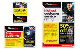Auto Repair - Flyer Template