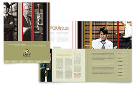 Lawyer & Law Firm - Brochure Template