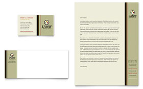 Lawyer & Law Firm - Business Card