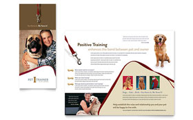 Pet Training & Dog Walking - Brochure Template