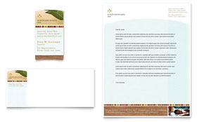Health & Beauty Spa - Business Card & Letterhead Template