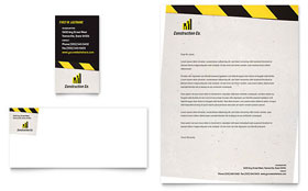 Industrial & Commercial Construction - Letterhead Template