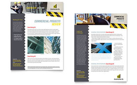 Industrial & Commercial Construction - Sales Sheet Template