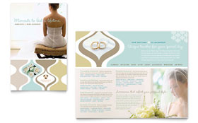 Wedding Store & Supplies - Adobe Illustrator Brochure
