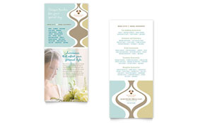 Wedding Store & Supplies - Rack Card Template